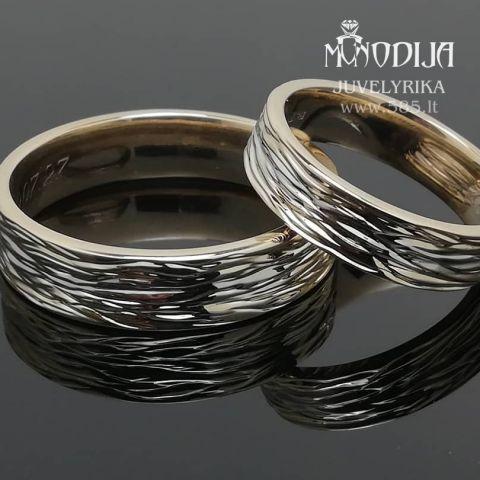Vestuviniai žieda geltono-balto aukso. Svoris 13g
