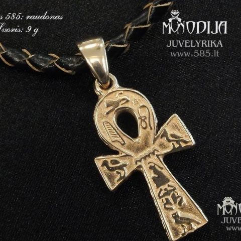 Egiptietiškas kryžiukas, pakabukas. Svoris 9g.  Kaina nuo 400€