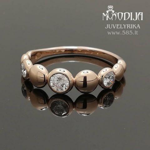 Sužadėtuvių žiedas puoštas briliantais. Svoris 3g, briliantai 0.17ct, 2vnt po 0.11ct.  Kaina nuo 800€