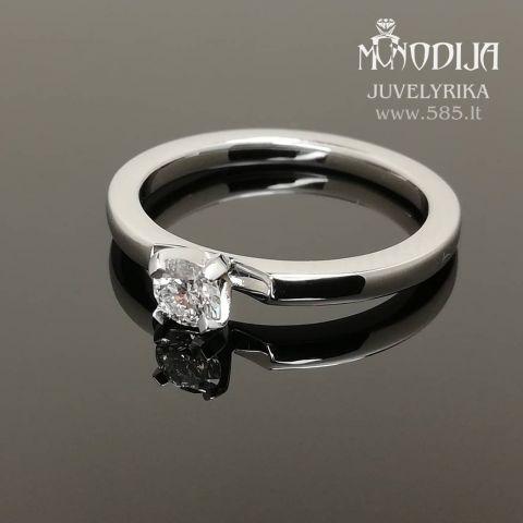 Auksinis sužadėtuvių žiedas su briliantu. Svoris 3g, briliantas 0.23ct. Kaina nuo 600€