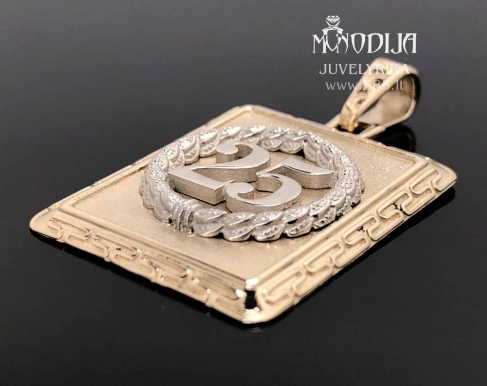 Auksinis pakabukas. Svoris 15g. Darbas nuo 300€ - www.585.lt