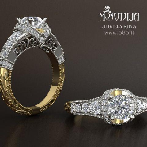 Sužadėtinių žiedas.  3d vizualizacija