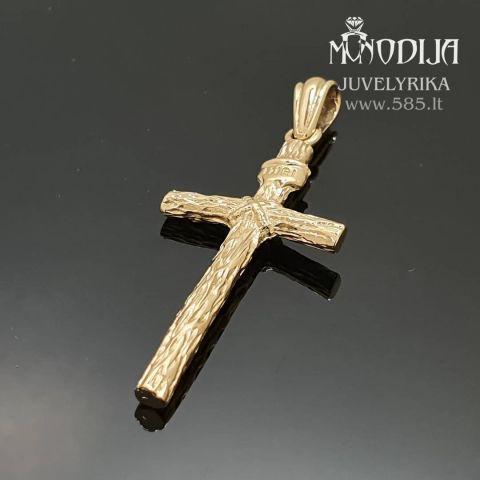 Geltono aukso pakabukas-kryžiukas. Svoris 7g. Darbas nuo 120€