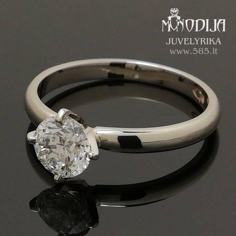 Sužadėtuvių žiedas. Svoris 2g, briliantas 0.7ct. Kaina nuo 1800€