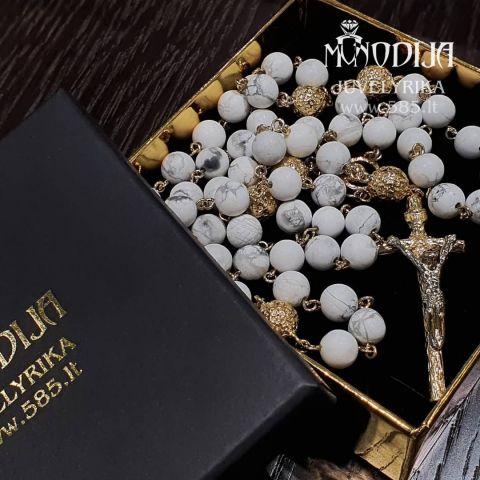 Auksinis rožančius Svoris: 50g Darbo kaina: 600€