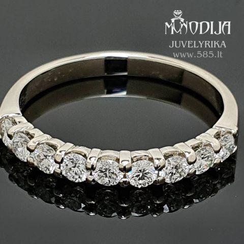 Žiedas su briliantais Svoris: 2g Briliantai: 9*0.07ct-2.6mm Darbo kaina: 150€