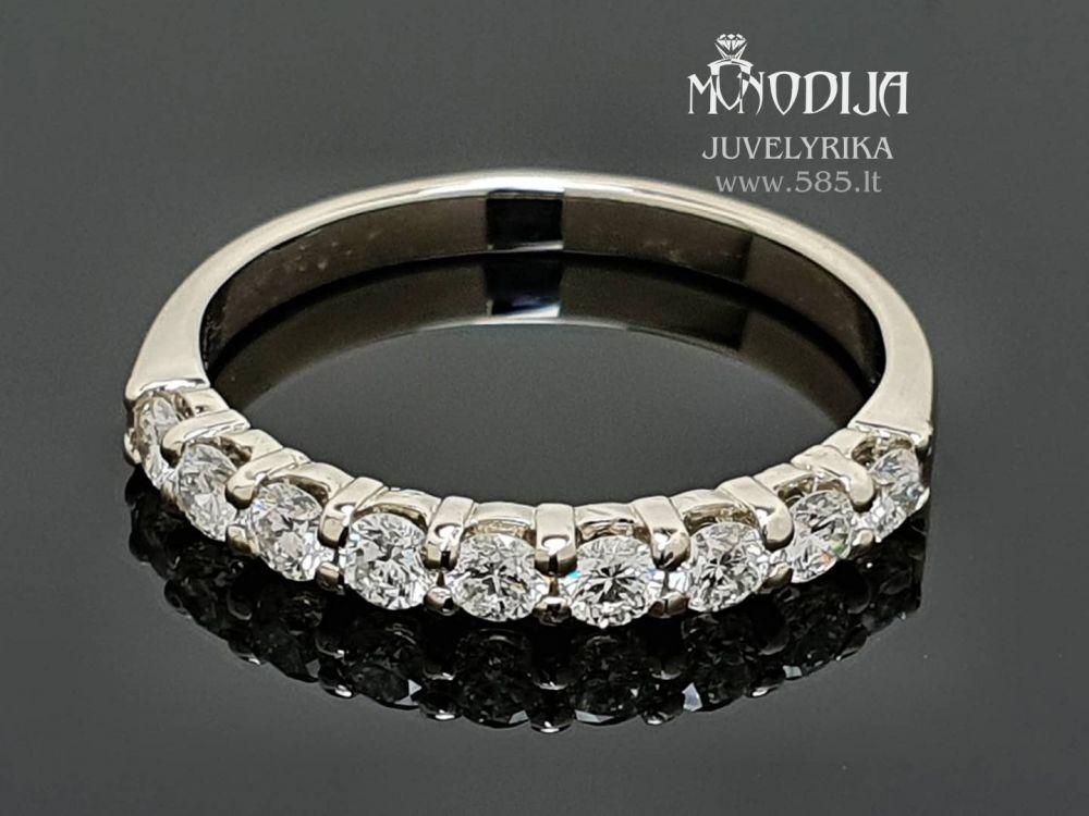 Žiedas su briliantais Svoris: 2g Briliantai: 9*0.07ct-2.6mm Darbo kaina: 150€ - www.585.lt