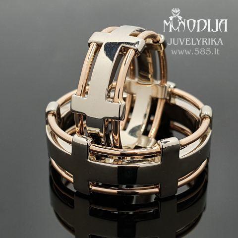 Modernūs vestuviniai žiedai. Svoris 17g. Kaina nuo 1300€