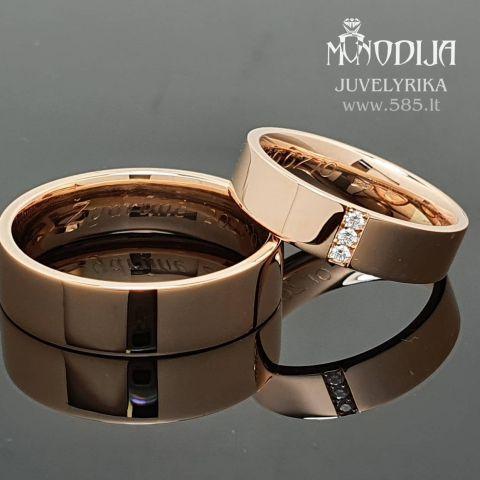 Modernūs vestuviniai žiedai. Svoris 15g, briliantai po 0.05ct. Kaina nuo 700€