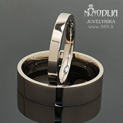 Modernūs vestuviniai žiedai. Svoris 11g, kaina nuo 500€