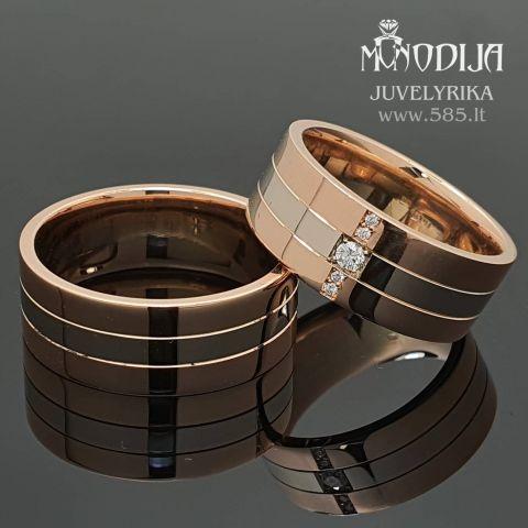 Modernūs vestuviniai žiedai. Svoris 21g, briliantai po 0.05ct, 0.01ct. Kaina nuo 1300€