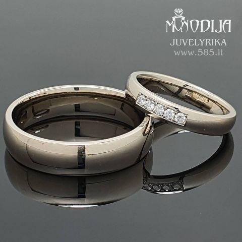 Klasikiniai, rankų darbo vestuviniai žiedai. Svoris 12g, briliantai po 0.02ct. Kaina nuo 800€