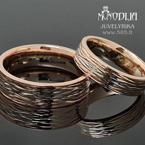 Vestuviniai žiedai su poliruota tekstūra. Svoris 14g