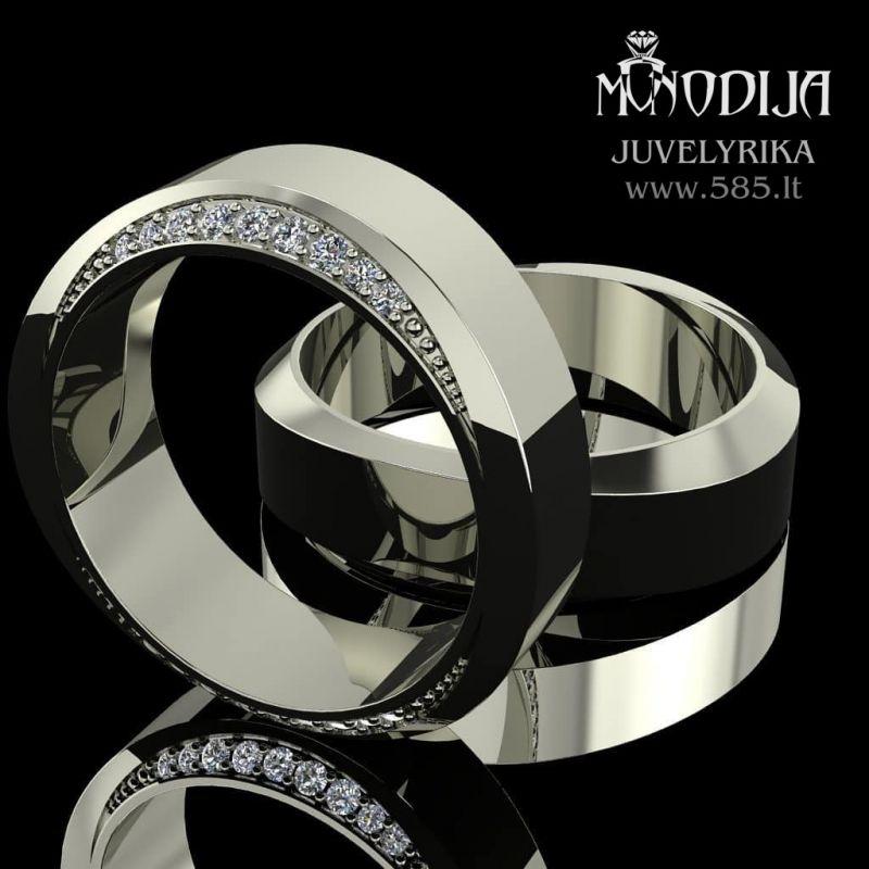 Vestuvinių žiedų vizualizacija - www.585.lt