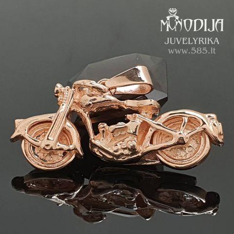 Auksinis motociklas. Svoris 8g, kaina 500€